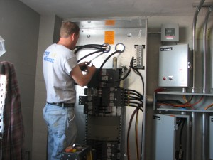 Making up an electrical panel Trey Electric