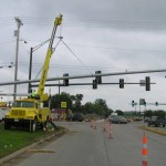Boom Truck operation - Trey Electric has the equipment necessary for rapid deployment